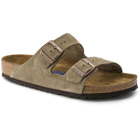 Birkenstock Arizona Sandals Suede Leather Soft Footbed Regular, taupe